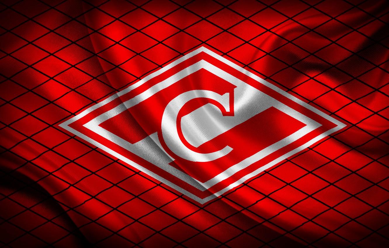 Photo wallpaper Red, Sport, Flag, Logo, Football, Emblem, Russia, Spartacus, Football Club, Rhombus, Meat, 1922, Red-white, Spartak …