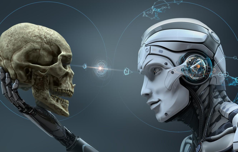 Photo wallpaper sake, robot, head