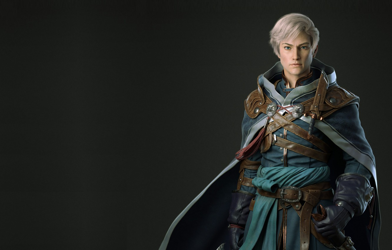 Photo wallpaper the game, character, costume design, dragon jiang, Male Practice