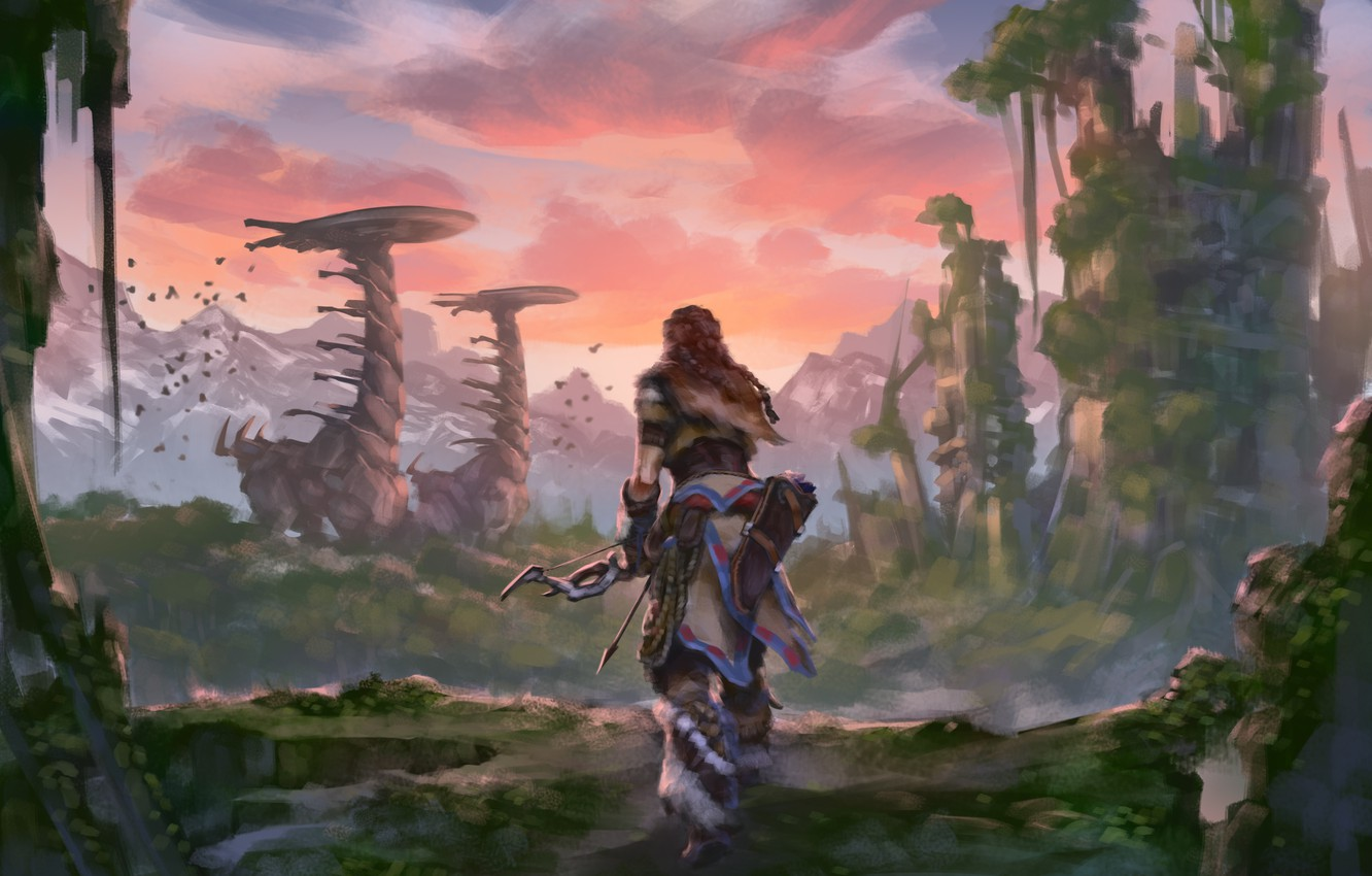 Wallpaper Sony Art Ps4 Horizon Zero Dawn Aloy Images For