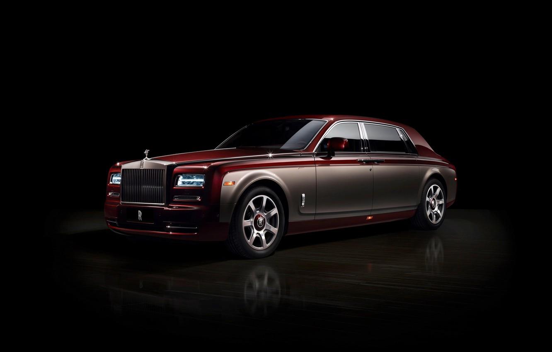 Photo wallpaper Phantom, black background, Rolls Royce, Pinnacle Travel