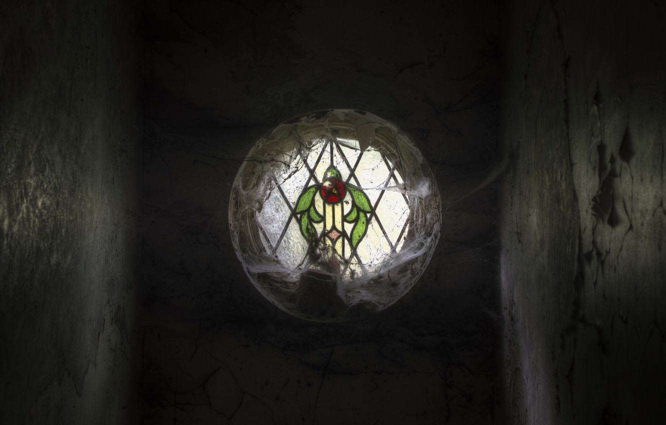 Photo wallpaper web, window, stained glass