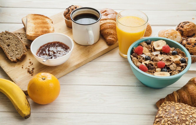 Photo wallpaper berries, food, Breakfast, juice, citrus, muesli