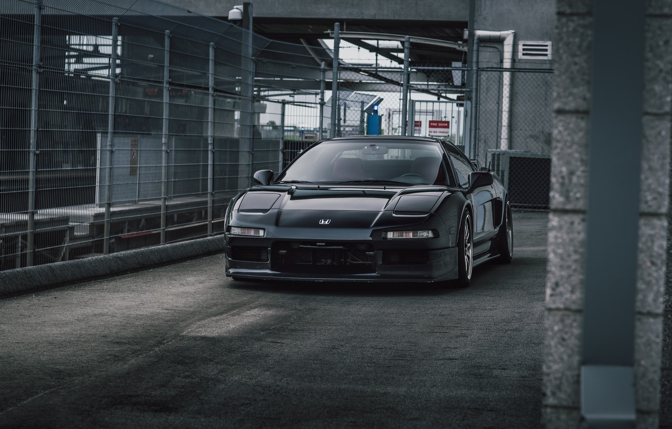 Photo wallpaper Honda, Black, NSX