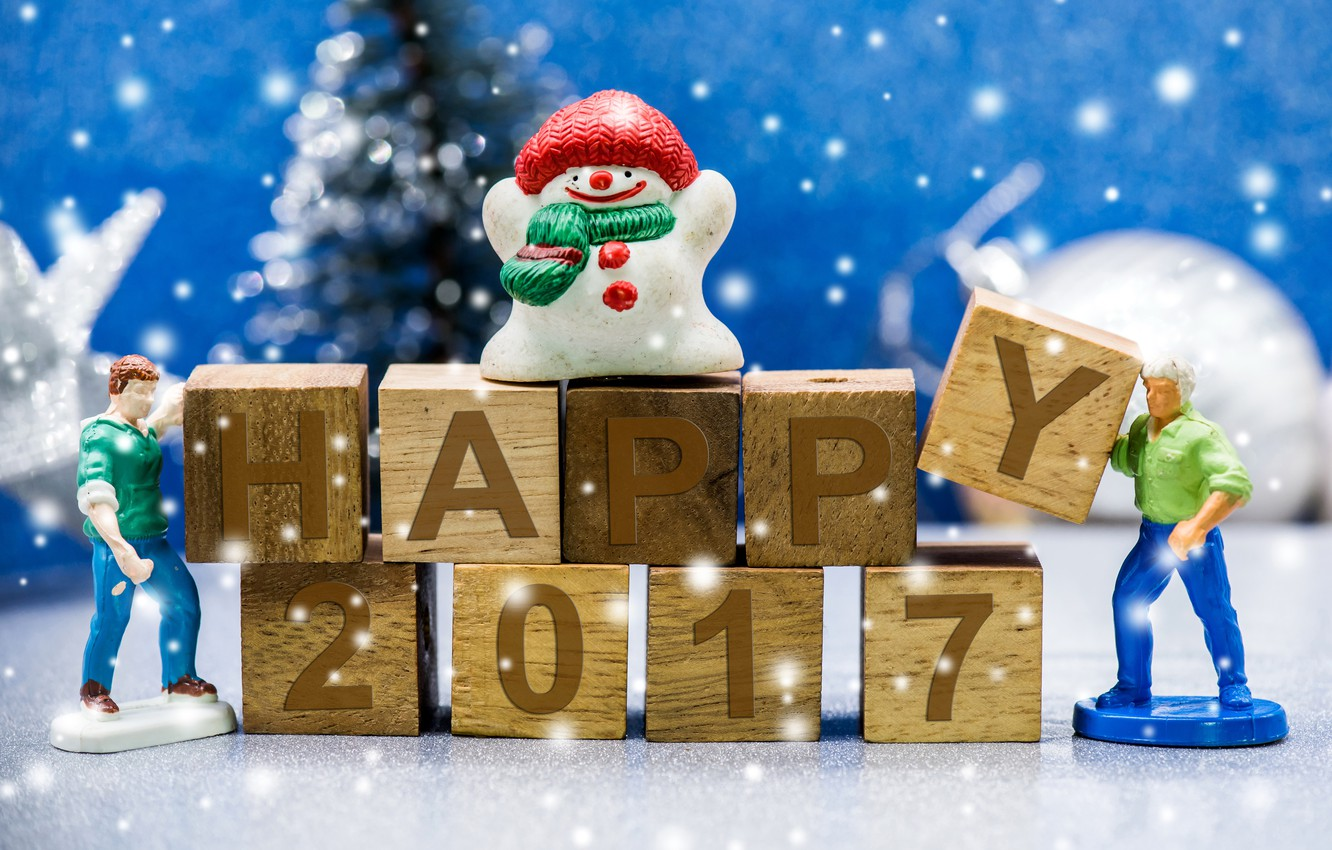 Photo wallpaper holiday, New Year, figures