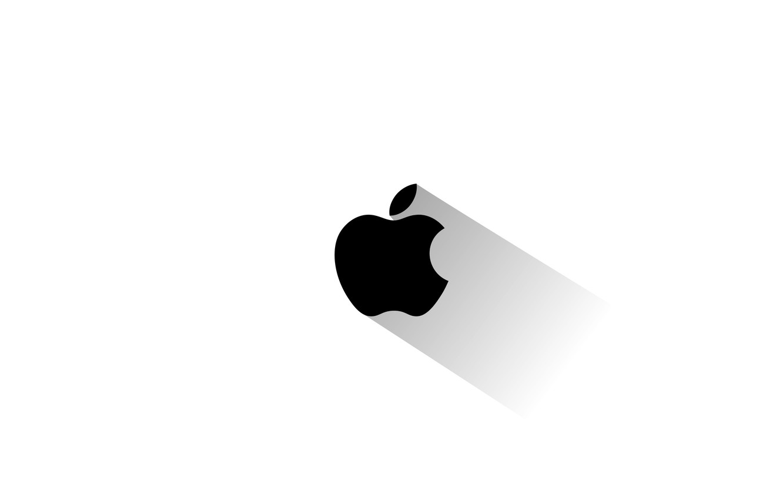 Photo wallpaper apple, minimalism, logo, emblem