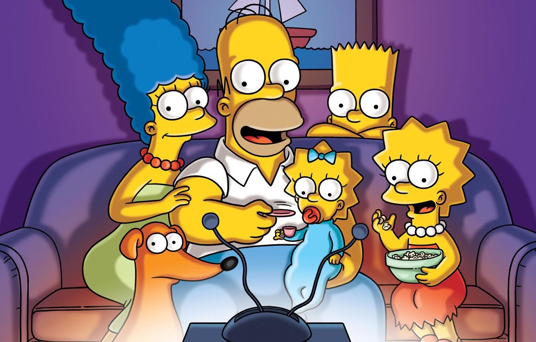 Wallpaper The Simpsons Figure Sofa Homer Family Tv Maggie