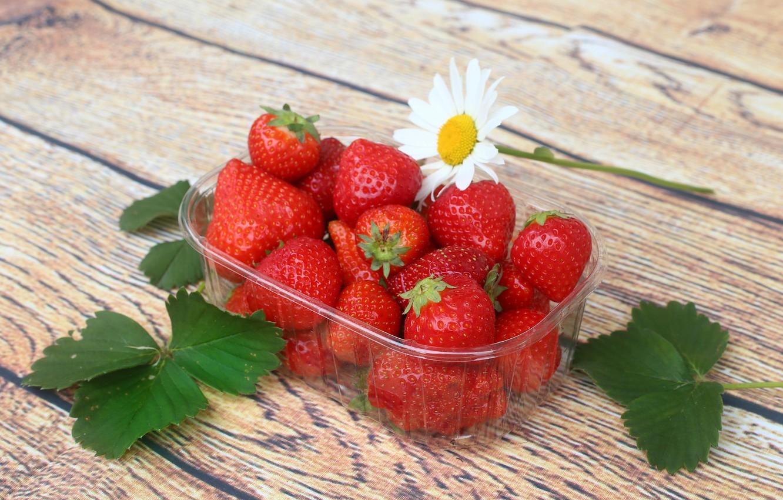 Photo wallpaper berries, Strawberry, ripe
