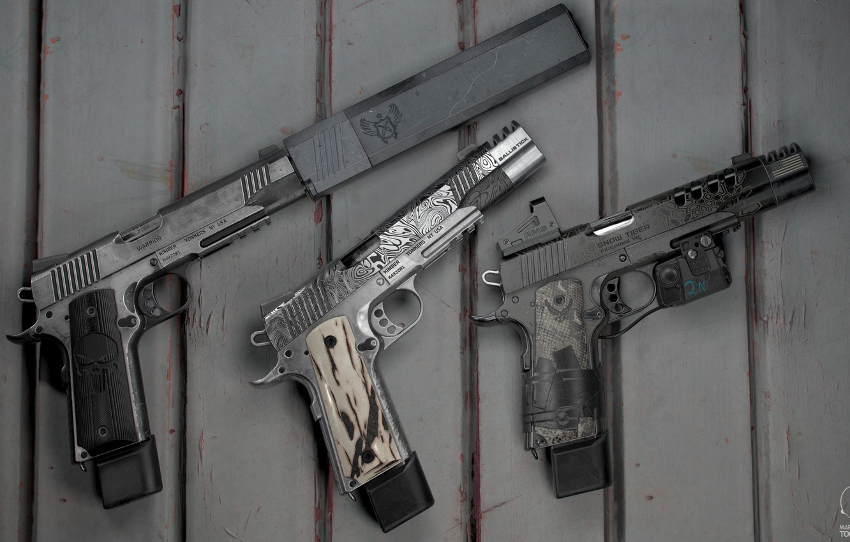 Wallpaper gun, weapons, gun, weapon, engraving, custom