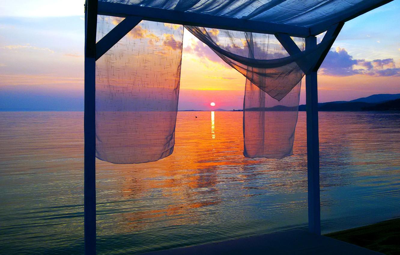 Wallpaper Sunset Sea Greece Sweet Afternoon Halkidiki