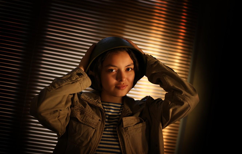 Photo wallpaper girl, beautiful, May 9, military uniform, Victory day, Kide Fotoart