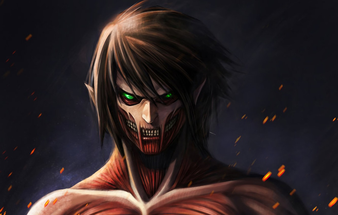 Wallpaper Art Titan Shingeki No Kyojin Eren Yeager Attack Of The