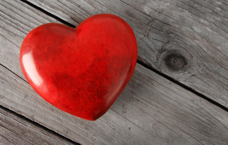 Photo wallpaper love, heart, red, love, heart, wood, romantic
