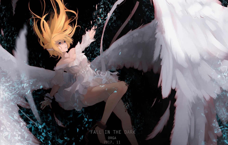 Photo wallpaper girl, angel, drop, tagme artist
