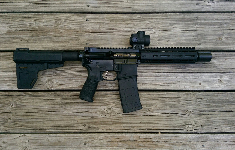 Photo wallpaper ar15, rifle, assault rifle