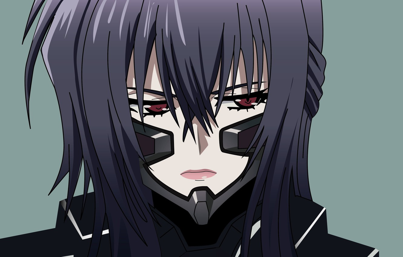 Wallpaper Girl Anime Red Eyes Face Suit 666 Muv Luv Japonese