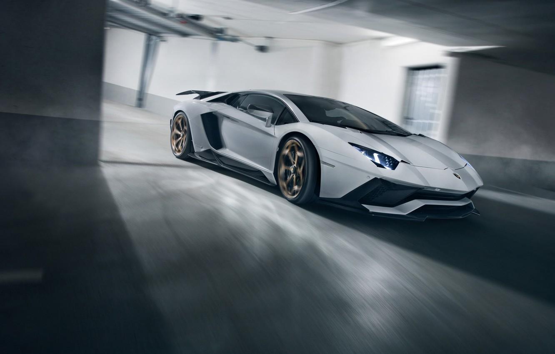 Photo wallpaper speed, Lamborghini, supercar, 2018, Novitec Torado, Aventador S