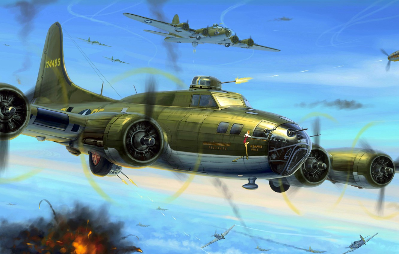 Wallpaper Boeing United States Air Force B 17 Flying Fortress