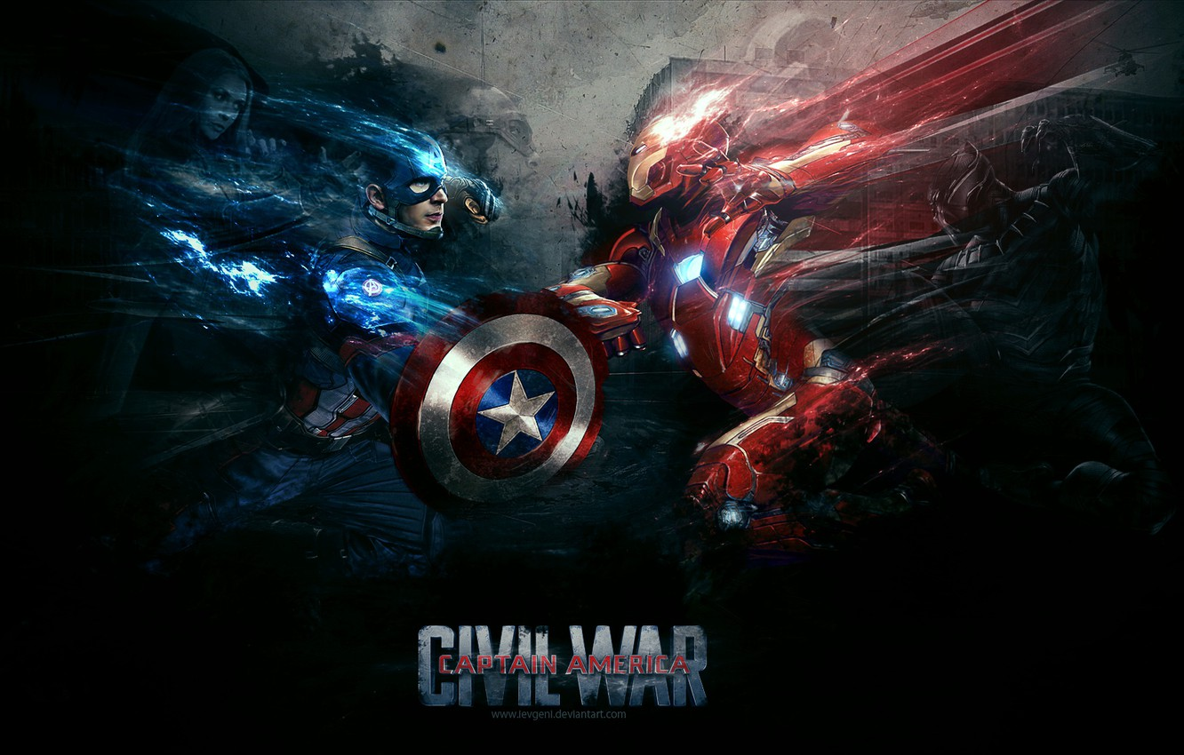 Wallpaper Captain America Iron Man Falcon War Machine Black
