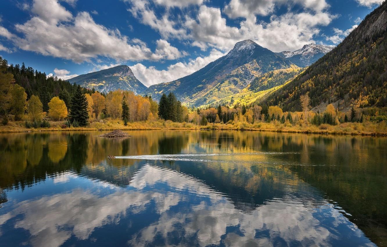 Photo wallpaper landscape, nature, reflection, beauty