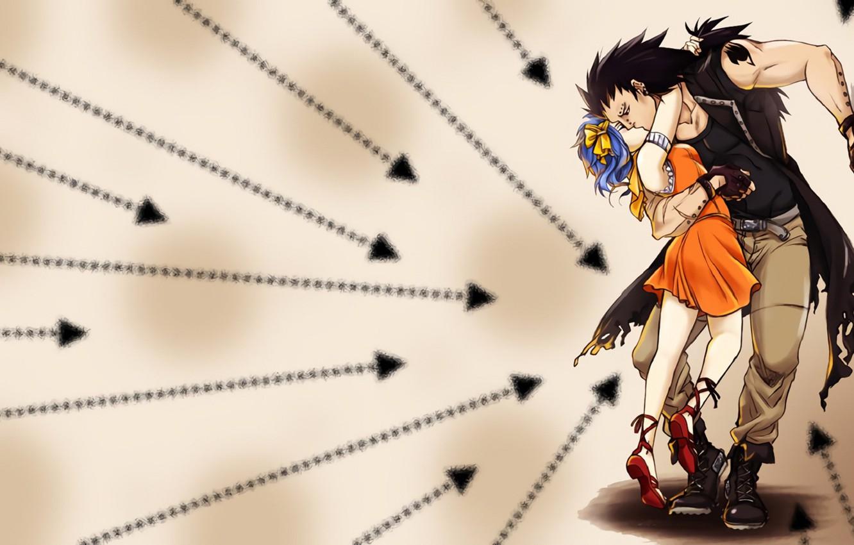 Photo wallpaper kiss, anime, art, Fairy Tail, Levi, Fairy tail, Gadgil