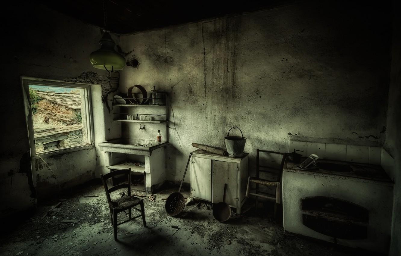 Photo wallpaper interior, window, kitchen