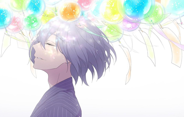 Photo wallpaper smile, guy, closed eyes, free, bells wind, freestyle, nao serizawa, by futoshi nishiya
