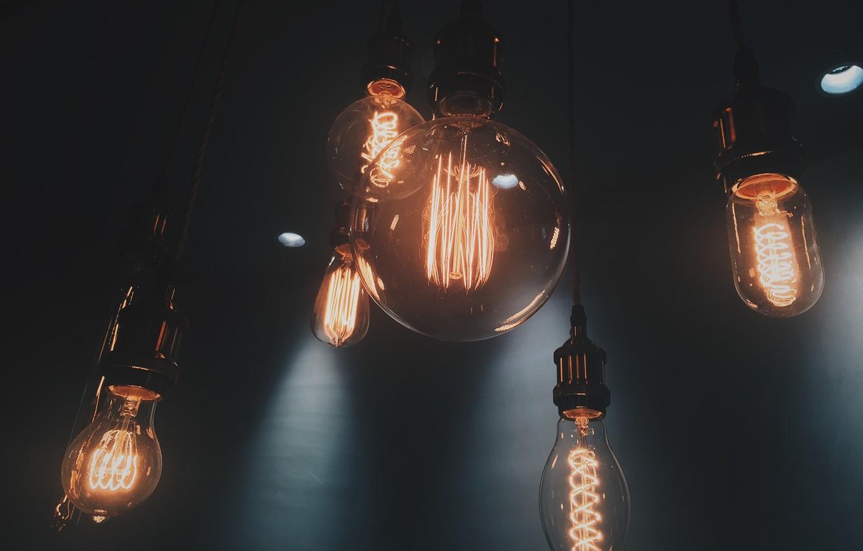 Photo wallpaper Macro, Light, Lamp, Of glower