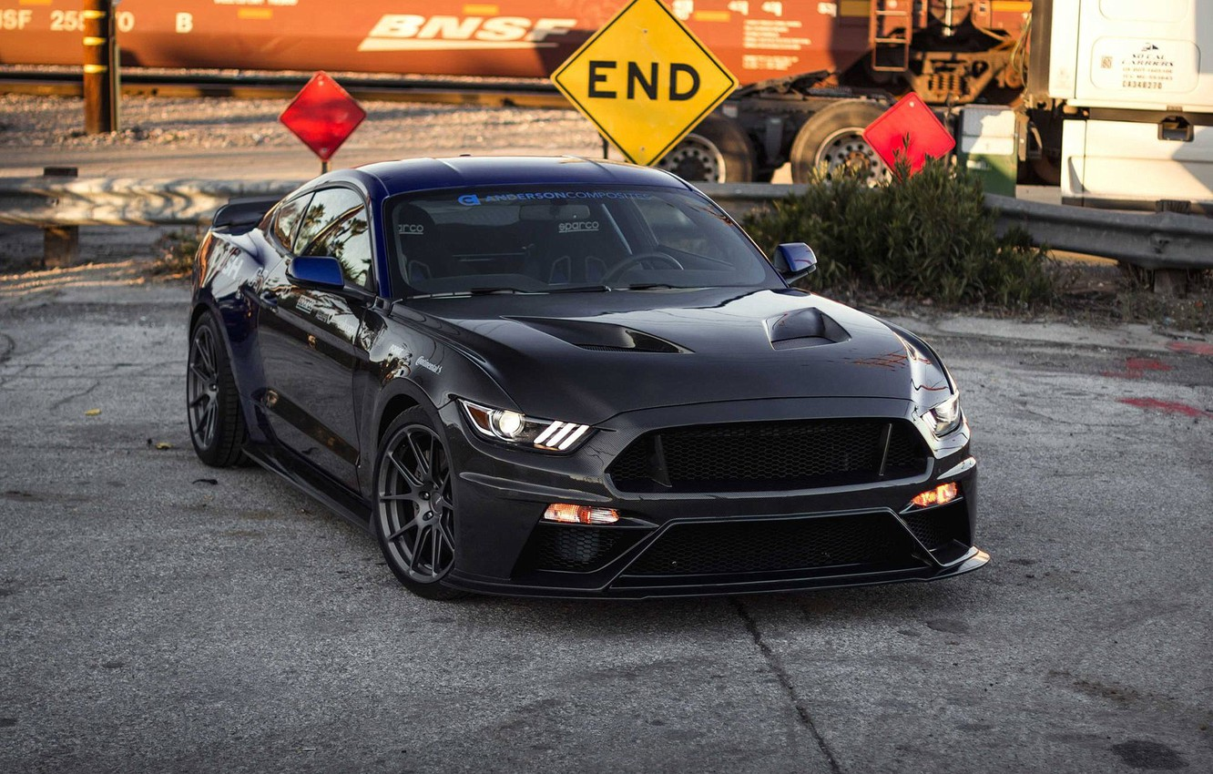 Photo wallpaper Mustang, Ford, One, Forged, Wheels, Piece, Forgeline, Monoblock, GS1R