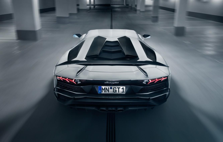 Photo wallpaper lights, Lamborghini, supercar, spoiler, rear view, 2018, Novitec Torado, Aventador S