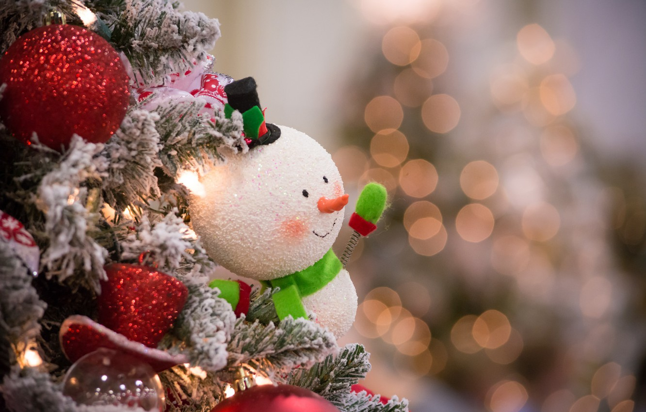 Photo wallpaper toy, new year, Christmas, snowman, christmas, merry christmas