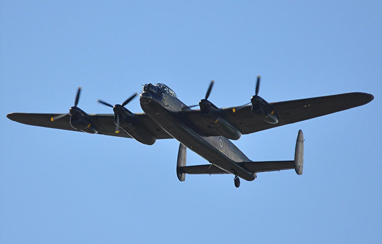 Photo wallpaper retro, Avro Lancaster, heavy bomber, Velikobritaniya