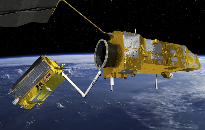 Photo wallpaper Technology, Deorbit mission, Space debris