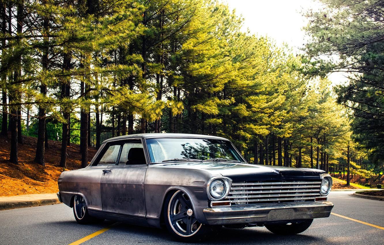 Photo wallpaper Chevrolet, Nova, 1963, Wheels, Rodster, Forgeline