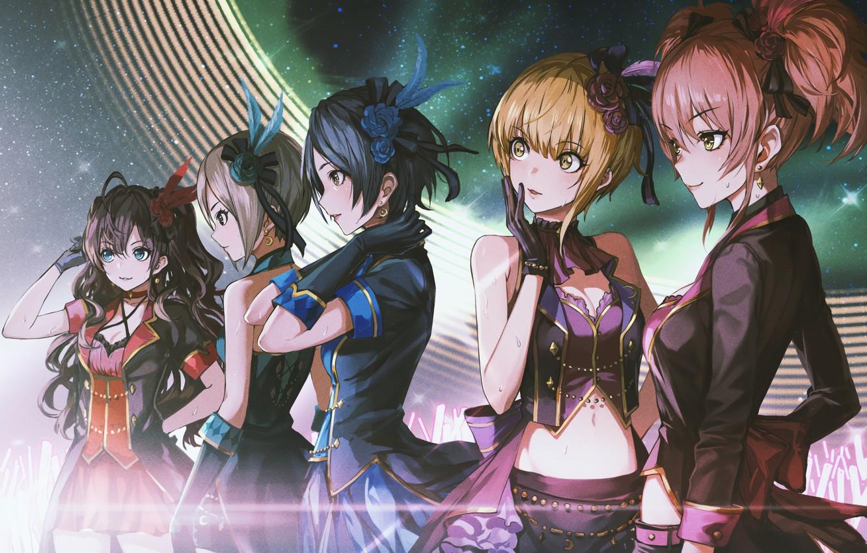 Photo wallpaper girls, scene, anime, art, characters, idolmaster