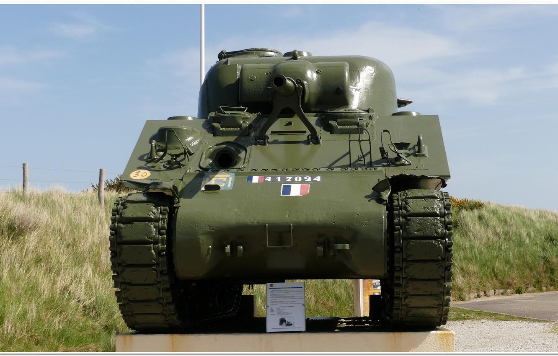 Photo wallpaper ww2, sherman tank, normandie, d-day, ww2 tank