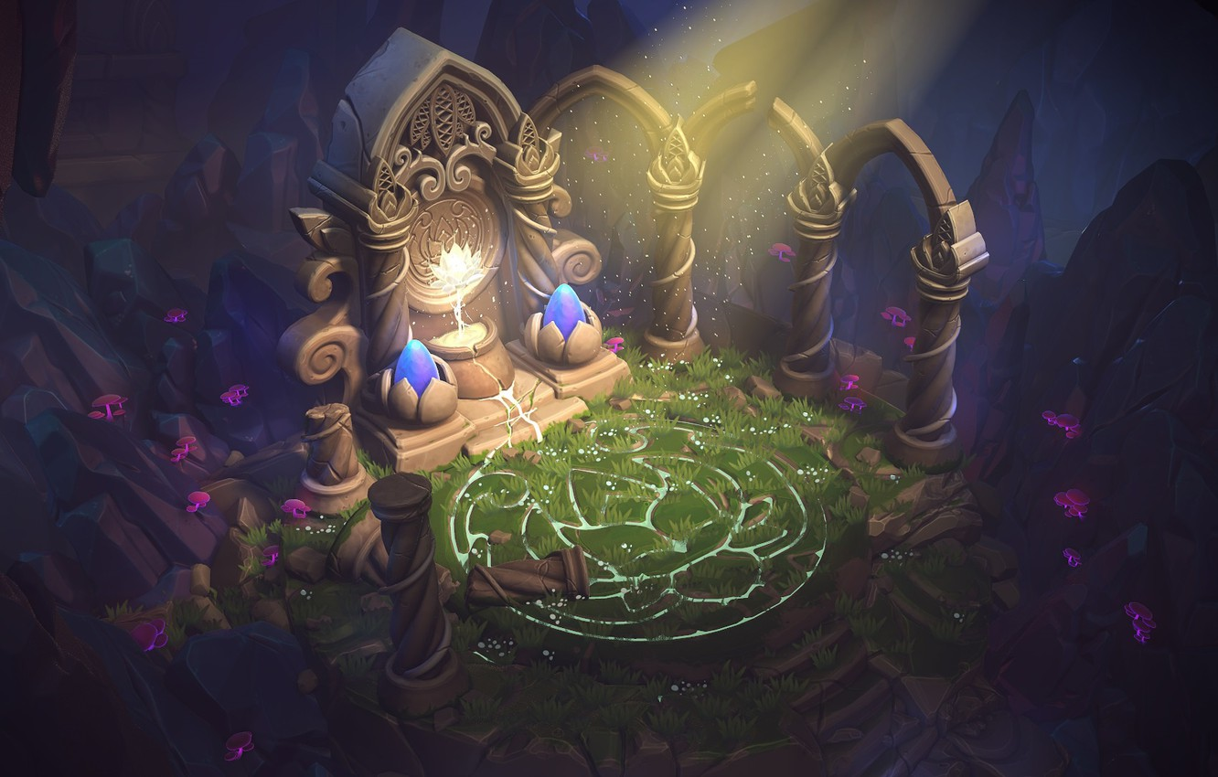 Wallpaper the game, fantasy, art, the altar, 3d, Anthony