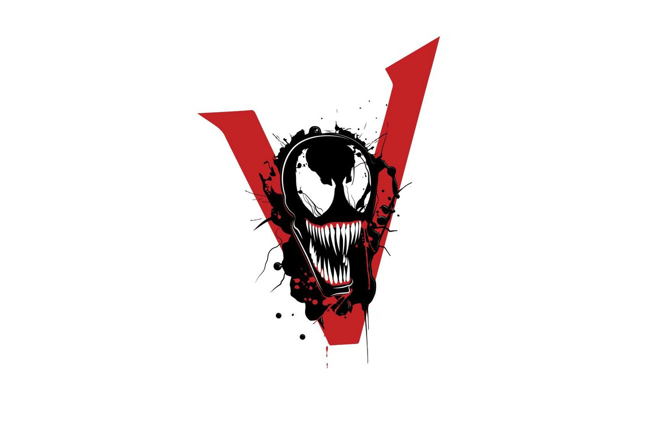 Photo wallpaper background, logo, Sony, Logo, 2018, MARVEL, Venom, venom, we are #venom