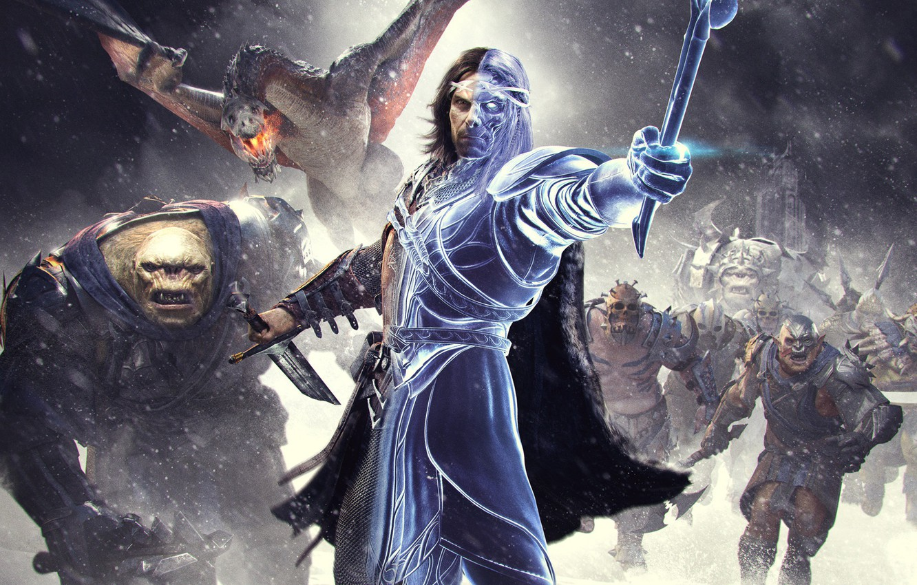 Photo wallpaper Warrior, Ghost, Equipment, Warner Bros. Interactive Entertainment, Monolith Productions, Middle-earth: Shadow of War, Middle-earth: Shadow …