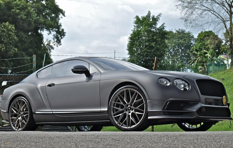 Photo wallpaper Bentley, Continental, Machine, 107, Titanium, V-FF