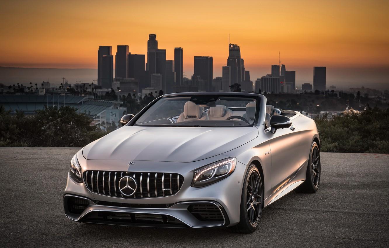 Photo wallpaper Mercedes-Benz, Los Angeles, AMG, Los Angeles, 2018, Cabriolet, 4MATIC, S63