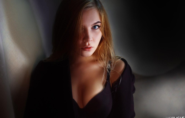 Photo wallpaper chest, look, face, hair, Alexander Drobkov-Light, Pauline Moseikina