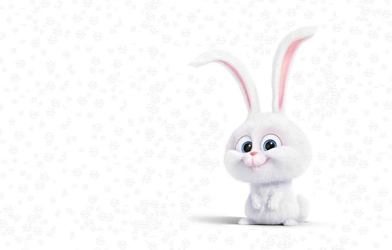 Photo wallpaper snow, rendering, mood, holiday, art, Bunny, snowflake, children's, Novay year