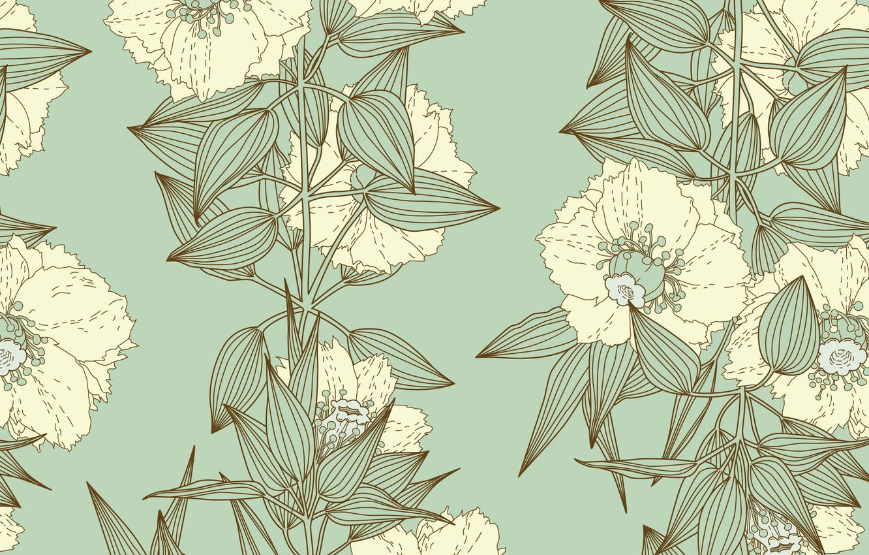 Photo wallpaper flowers, texture, vintage