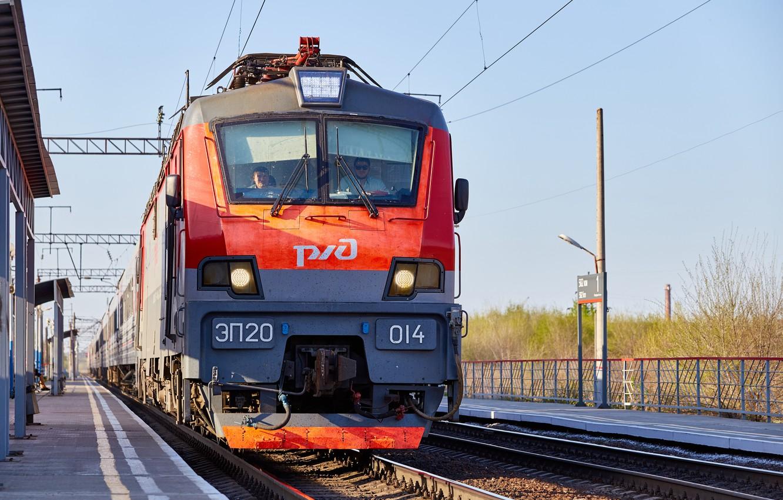 Photo wallpaper Locomotive, Train, railroad