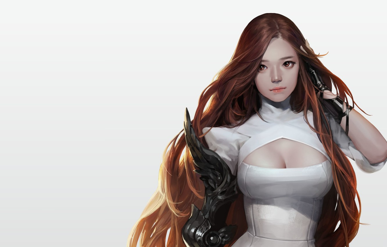 Photo wallpaper girl, anime, warrior, art, Personal work, snod snow