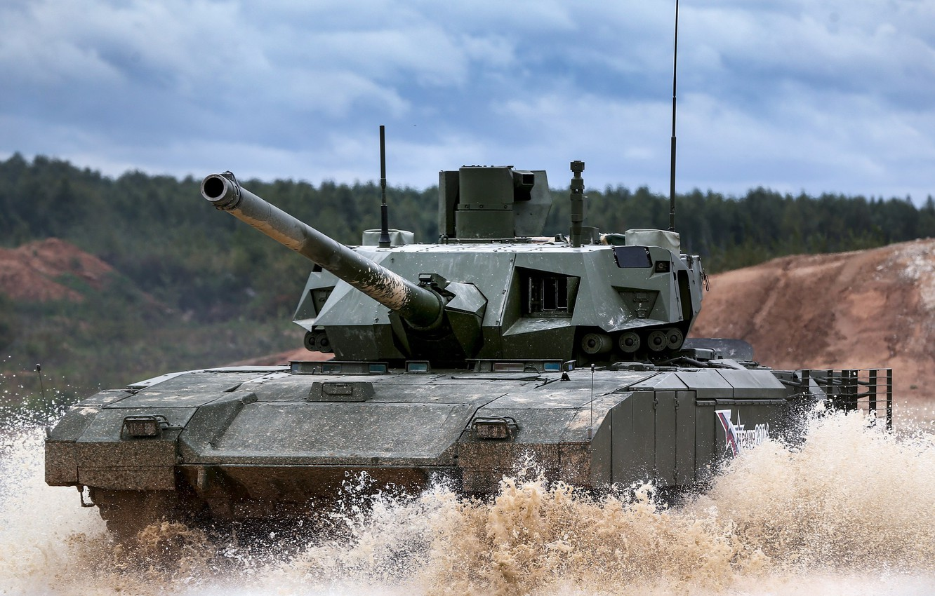 Photo wallpaper tank, Russian main battle tank, Object 148, Armata, T-14