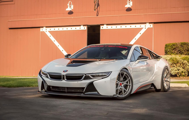 Photo wallpaper BMW, white, Vorsteiner, VR-E, i8