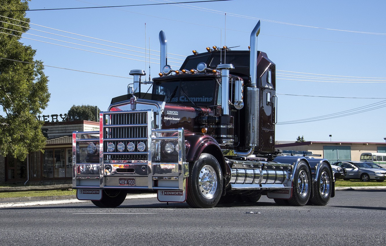 Photo wallpaper street, kenworth, trac