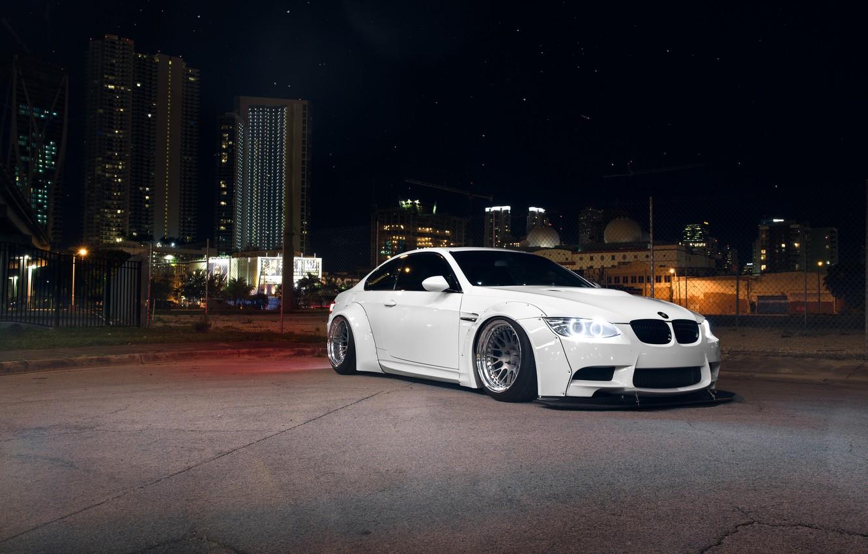 Photo wallpaper BMW, Front, White, E92, Liberty, Walk